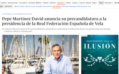 Amplio eco mediático de la precandidatura de Pepe Martínez David a la presidencia de la Real Federación Española de Vela